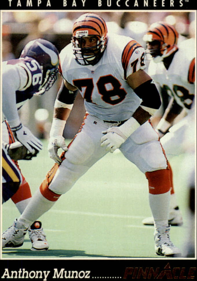 1993 Pinnacle #348 Anthony Munoz front image