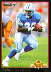 1993 Pinnacle Men of Autumn #8 Barry Sanders