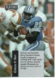 1993 Playoff Checklists #2 Barry Sanders