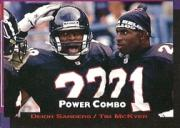 1993 Power Combos #4 Deion Sanders/Tim McKyer