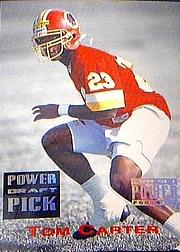 1993 Power Draft Picks #28 Tom Carter front image