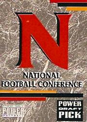 1993 Power Draft Picks #30 NFC Logo CL