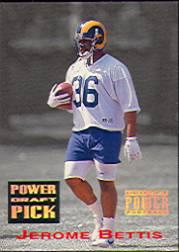 1993 Power Draft Picks Gold #14 Jerome Bettis