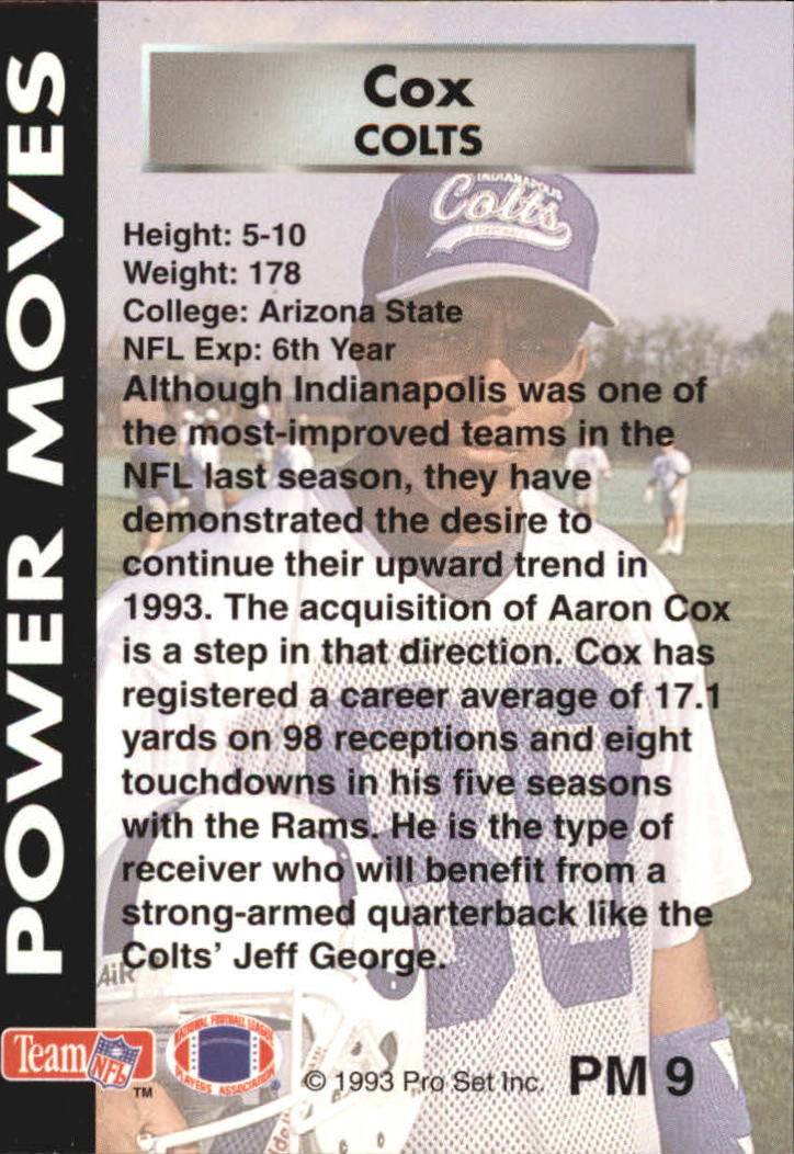 1993 Power Moves #PM9 Aaron Cox