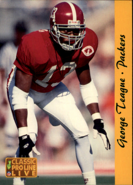 1993 Pro Line Live #95 George Teague RC