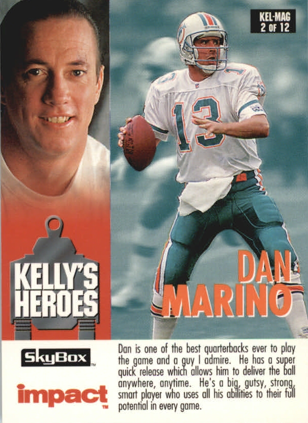 1993 SkyBox Impact Kelly/Magic #2 D.Marino/Jim Kelly