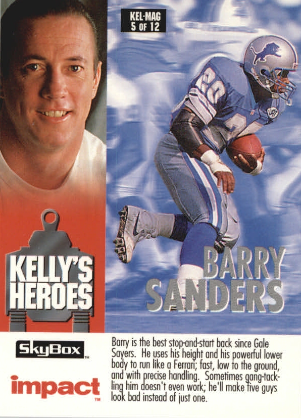 1993 SkyBox Impact Kelly/Magic #4 B.Sanders/T.Thomas