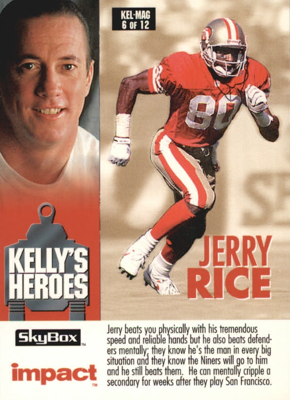 1993 SkyBox Impact Kelly/Magic #6 J.Rice/St.Sharpe