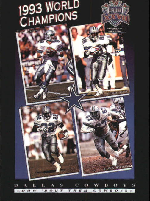 1993 SkyBox Premium Poster Cards #CB2 Aikman/Irvin/Smith/Mary