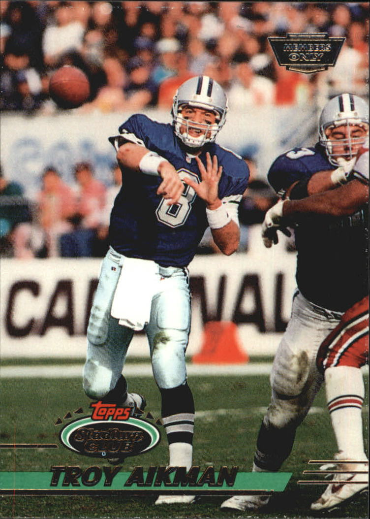 1993 Stadium Club #50 Troy Aikman