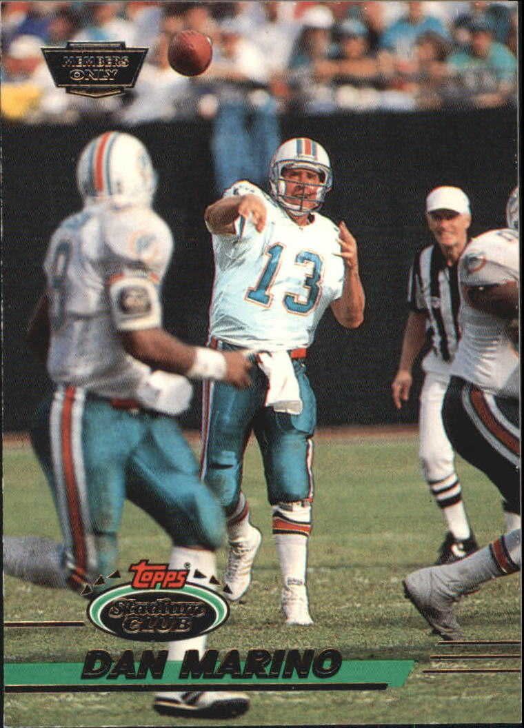 1993 Stadium Club #60 Dan Marino