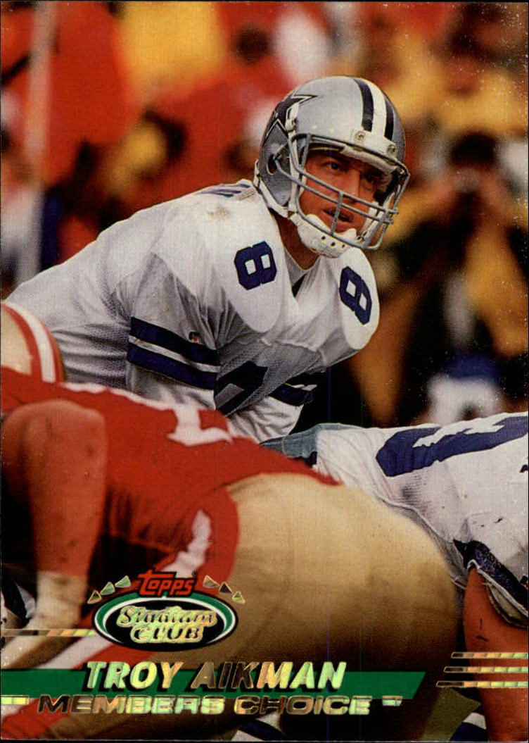 1993 Stadium Club #242 Troy Aikman MC