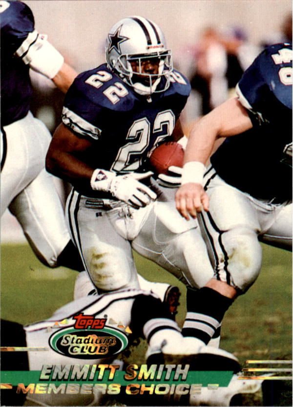 1993 Stadium Club #491 Emmitt Smith MC