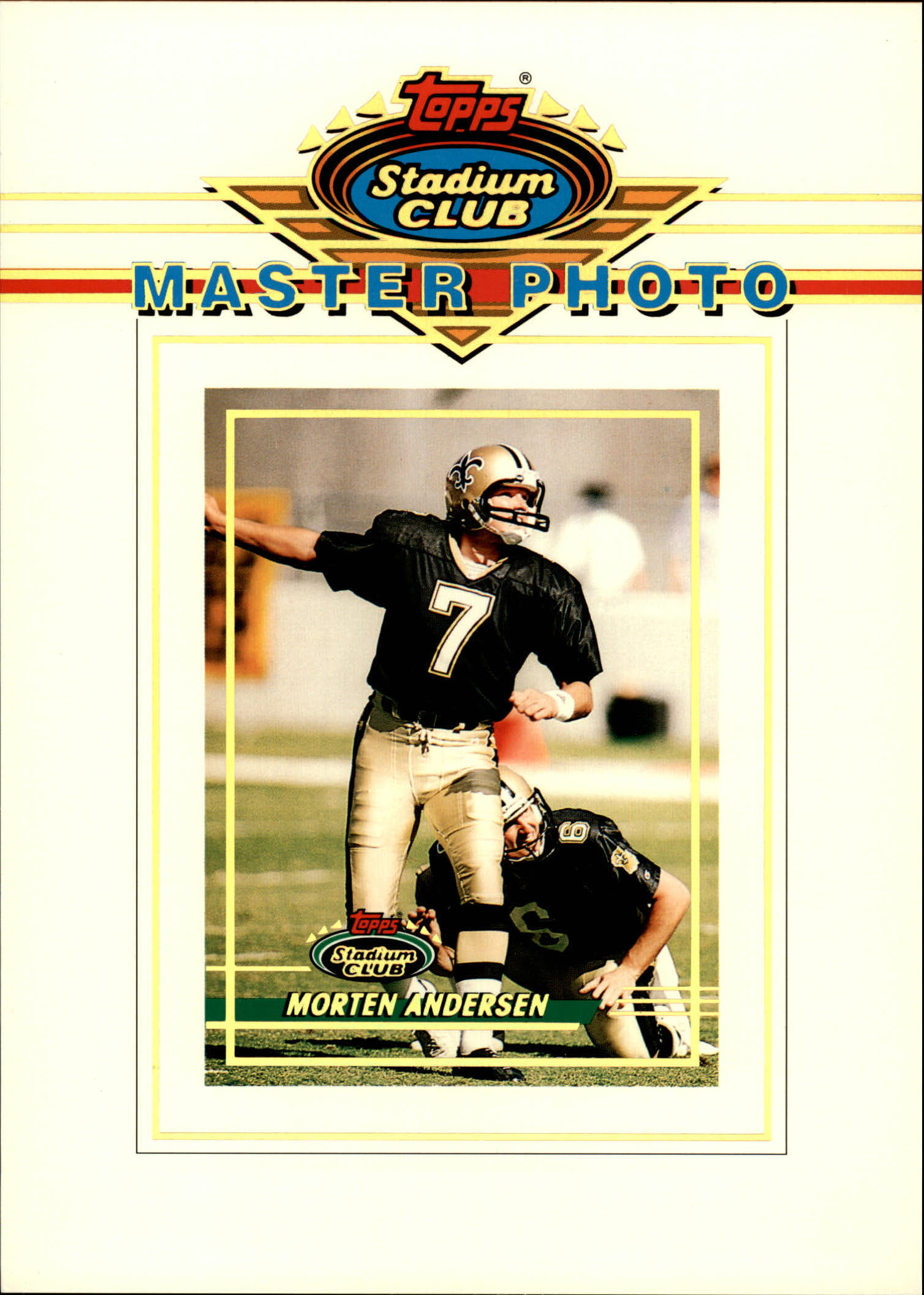 1993 Stadium Club Master Photos II #1 Morten Andersen