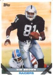 1993 Topps #628 Tim Brown