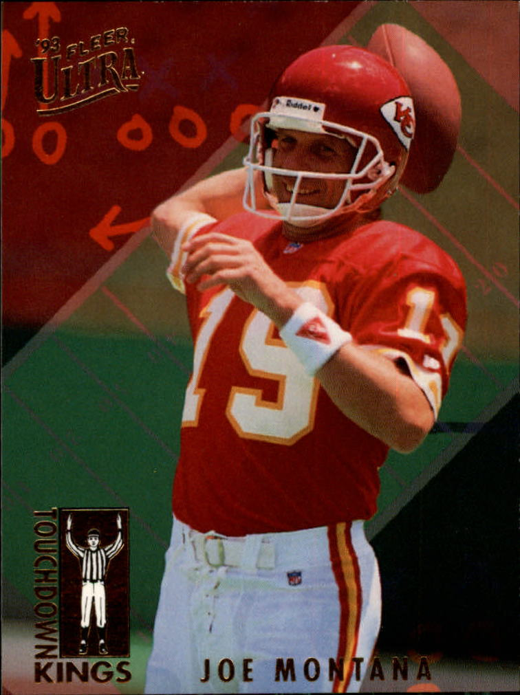 1993 Ultra Touchdown Kings #4 Joe Montana front image