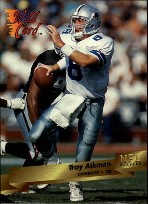 1993 Wild Card #86 Troy Aikman
