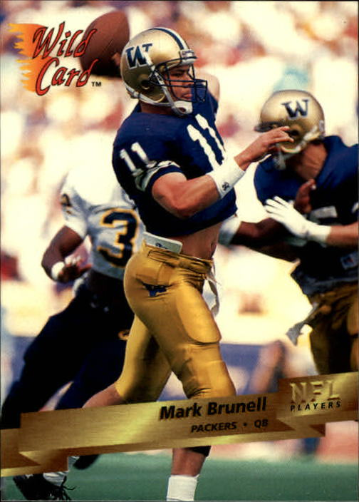 1993 Wild Card #135 Mark Brunell RC