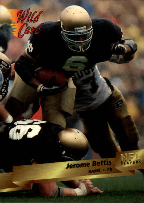 1993 Wild Card #159 Jerome Bettis RC
