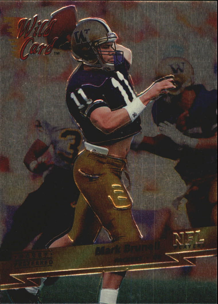 1993 Wild Card Superchrome #135 Mark Brunell RC