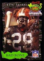 1994 Coke Monsters of the Gridiron #7 Eric Turner