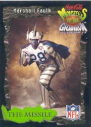 1994 Coke Monsters of the Gridiron #13 Marshall Faulk