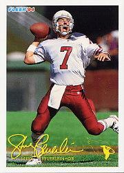 1994 FACT Fleer Shell #2 Steve Beuerlein