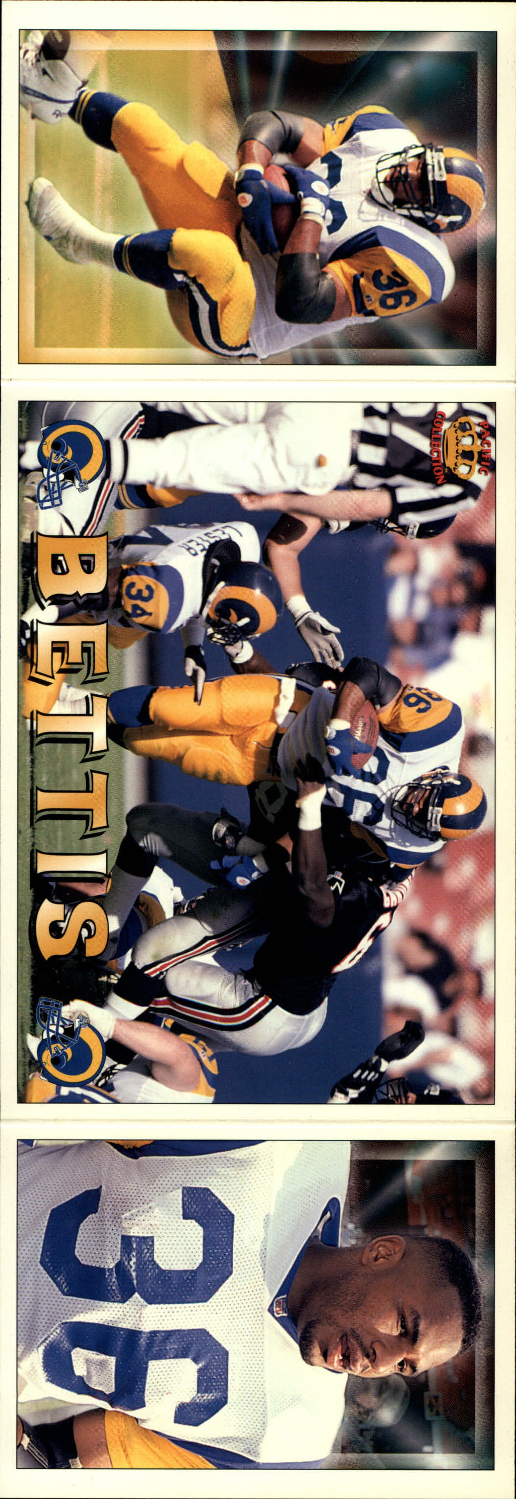 1994 Pacific Triple Folders #18 Jerome Bettis