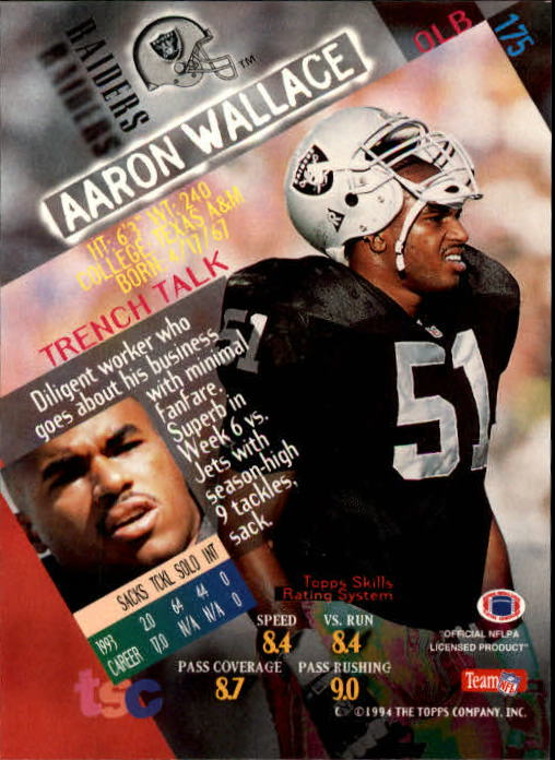 1994 Stadium Club Members Only Parallel #175 Aaron Wallace