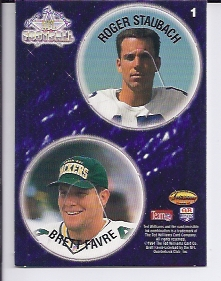 1994 Ted Williams POG Cards #1 Roger Staubach/Brett Favre