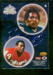 1994 Ted Williams POG Cards #5 O.J. Simpson/Floyd Little