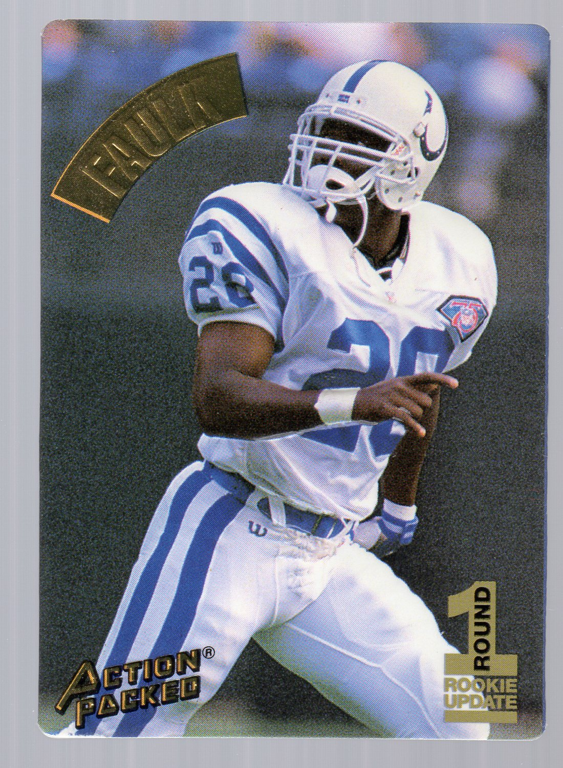 1994 Action Packed #122 Marshall Faulk RC