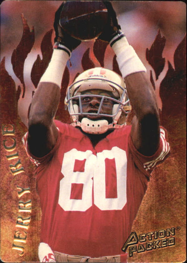 1994 Action Packed Catching Fire #R1 Jerry Rice