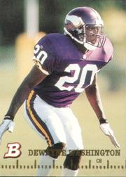 1994 Bowman #17 Dewayne Washington RC