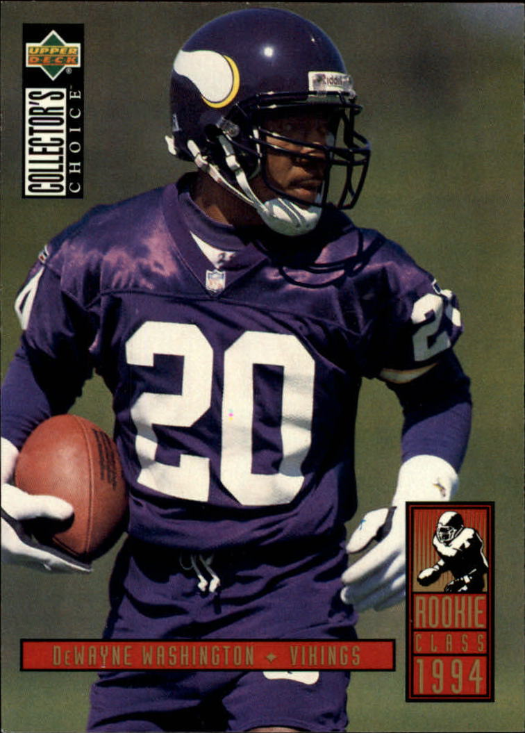 1994 Collector's Choice #4 Dewayne Washington RC