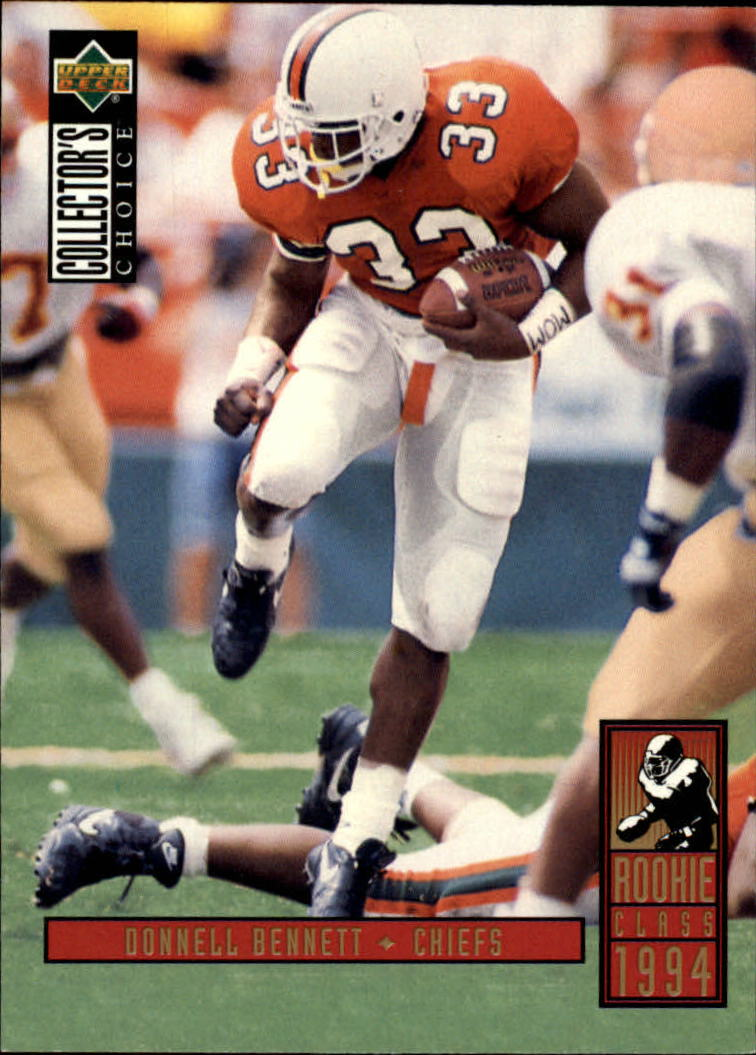1994 Collector's Choice #20 Donnell Bennett RC