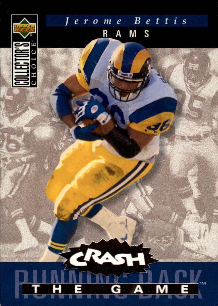 1994 Collector's Choice Crash the Game Bronze Redemption #C18 Jerome Bettis