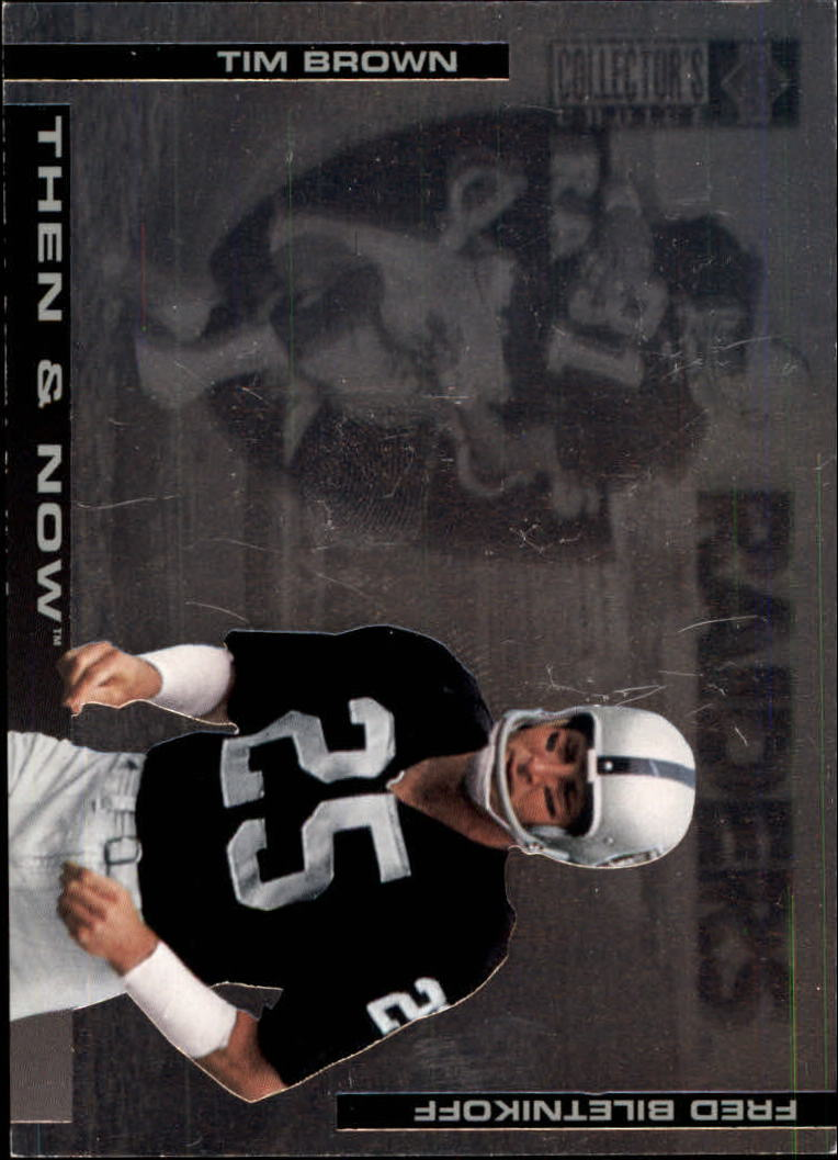 1994 Collector's Choice Then and Now #2 Tim Brown/F.Biletnikoff