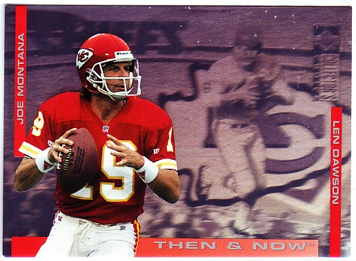 1994 Collector's Choice Then and Now #3 Joe Montana/Len Dawson