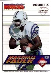 1994 Collector's Edge Boss Rookies Update Diamond #6 Marshall Faulk