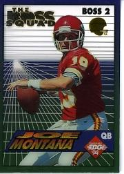1994 Collector's Edge Boss Squad Silver/Gold Helmet #2 Joe Montana