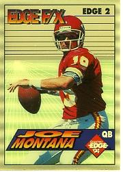 1994 Collector's Edge FX Silver Backs #2 Joe Montana