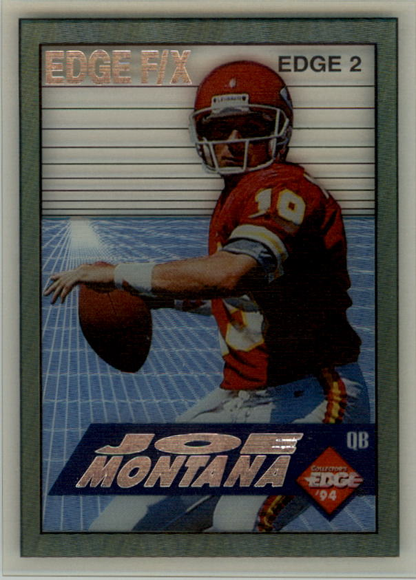 1994 Collector's Edge FX Silver Letters #2 Joe Montana