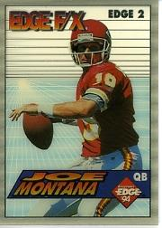 1994 Collector's Edge FX White Backs #2 Joe Montana front image