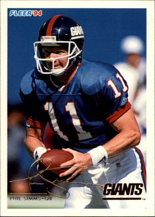 1994 Fleer #349 Phil Simms