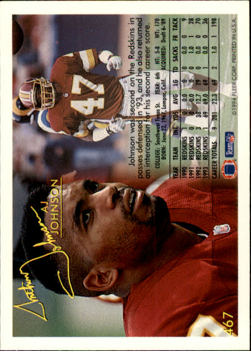 1994 Fleer #467 A.J. Johnson