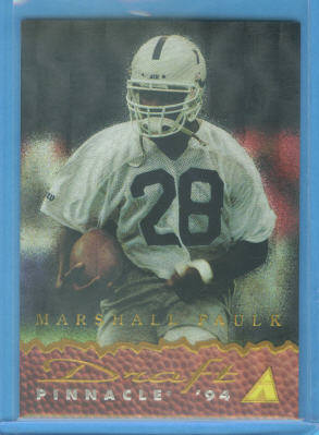1994 Pinnacle Draft Pinnacle Dufex #DP2 Marshall Faulk