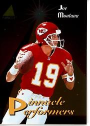 1994 Pinnacle Performers #PP11 Joe Montana