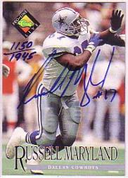 1994 Pro Line Live Autographs #87 Russell Maryland/1945