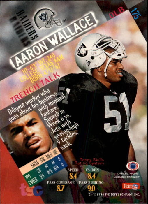 1994 Stadium Club #175 Aaron Wallace